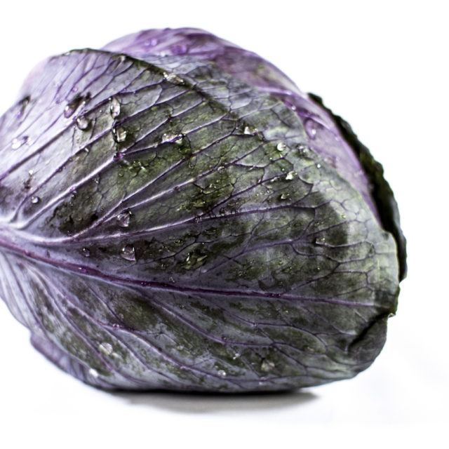 Red sweetheart cabbage