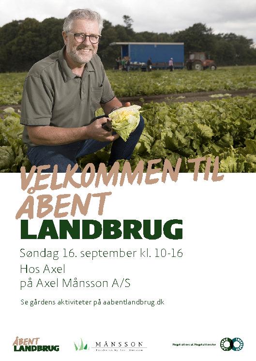 Åbent Landbrug søndag d. 16. september 2018 kl. 10-16 – alle er velkomne!