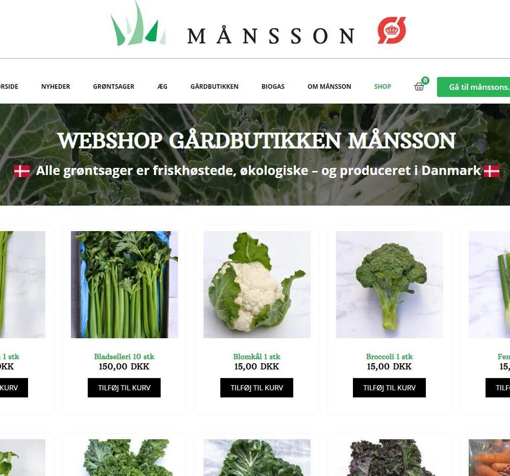 Månsson åbner webshop