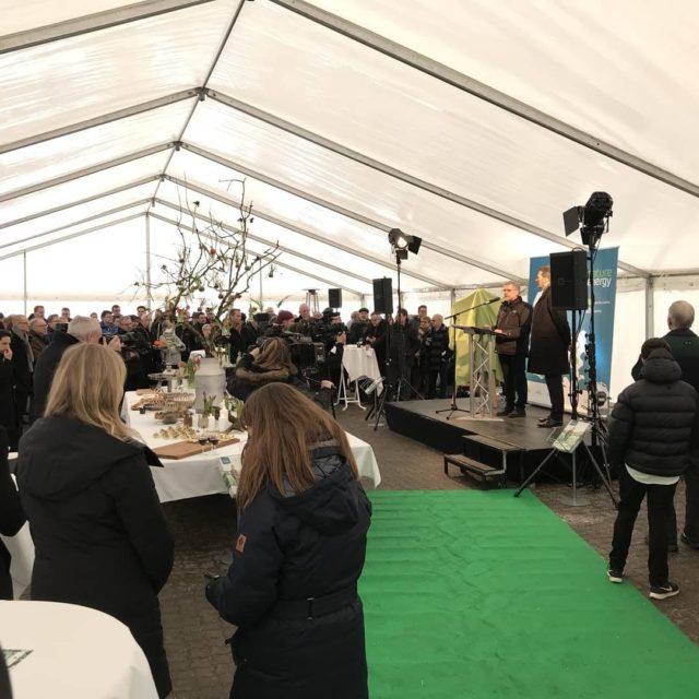 Biogasanlægget indviet med stemning og fest